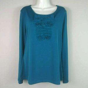 East5th Top Blouse Women's Size Medium Blue